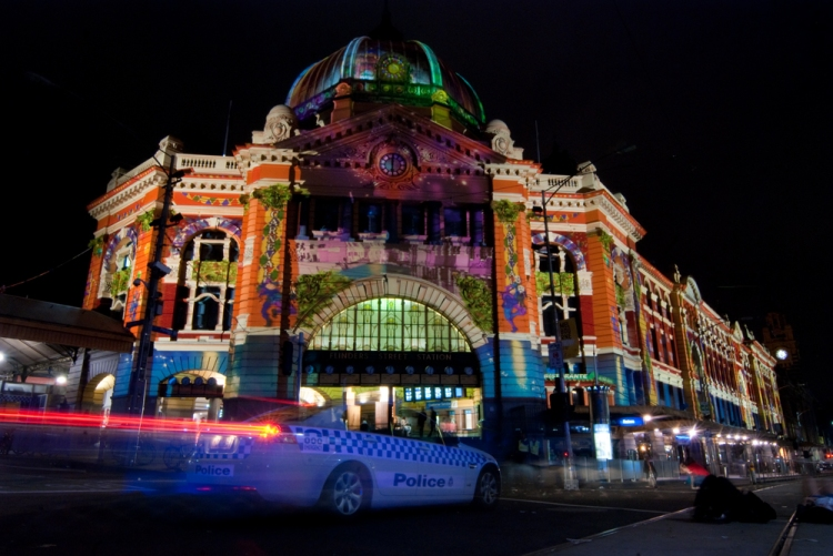 White Night 4 - Flinders Street Station