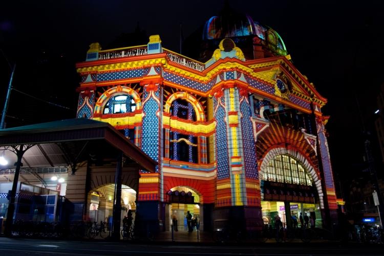 White Night 5 - Flinders Street Station